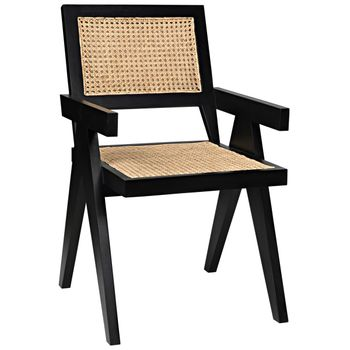 Jude Chair With Caning, Black