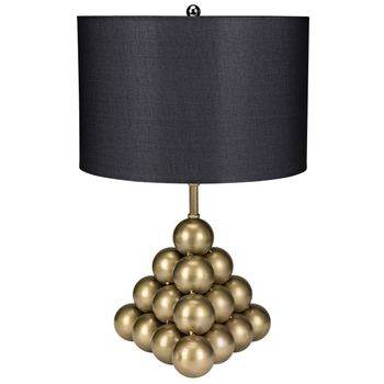 Lea Table Lamp W/ Shade, Antique Brass