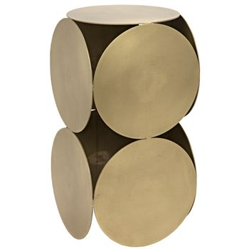 Lola Side Table, Antique Brass