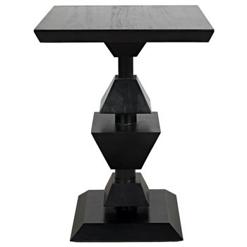 Majesty Side Table, Hand Rubbed Black
