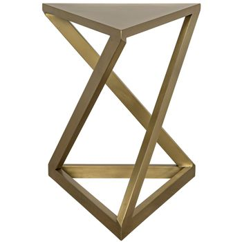 Orpheo Side Table, Antique Brass