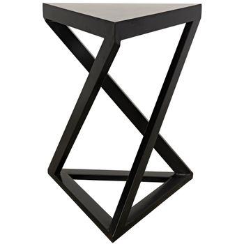 Orpheo Side Table, Black Metal