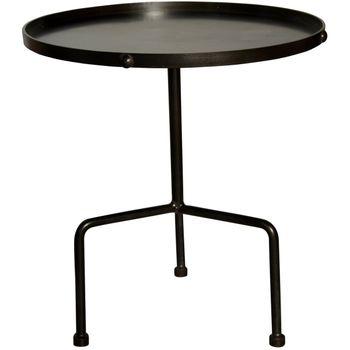 Paige Side Table, Black Metal