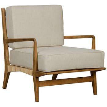Qs Allister Chair, Teak And Rattan