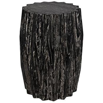 Tamela Stool/Side Table, Cinder Black