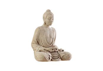 Levitating Buddha Wall Sculpture, Roman Stone