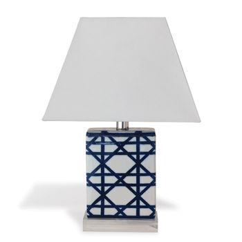 Gazebo Navy Mini Lamps, Set Of 2