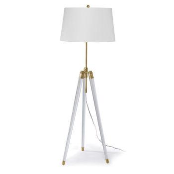 Brigitte Floor Lamp (Natural Brass)