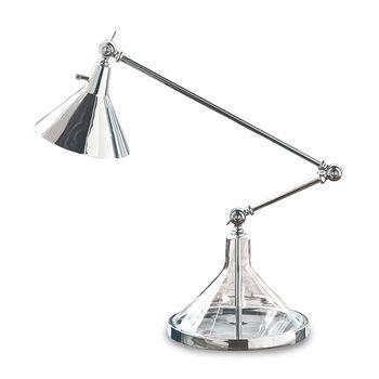 Glass Funnel Beaker Task Lamp (Polished Nickel)