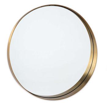 Gunner Mirror Round (Natural Brass)