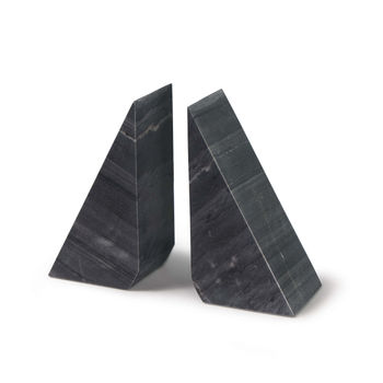 Othello Marble Bookends (Black)