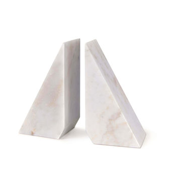 Othello Marble Bookends (White)