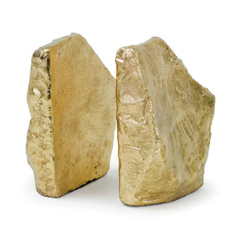 Rock Bookends (Soft Gold)