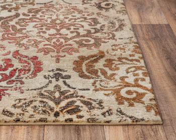 Rug, 100% New Zealand Wool in Classic Design, Beige/Brown, 8' X 10'