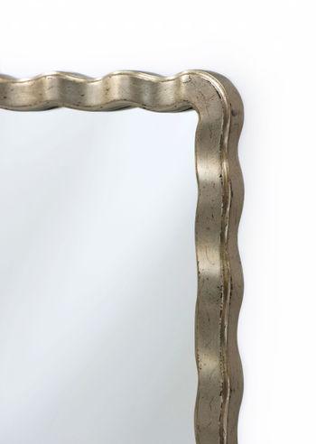"""Tall Mirror,  Silver Leaf Framed Mahogany, 46.5""""H x 32.5""""W"""