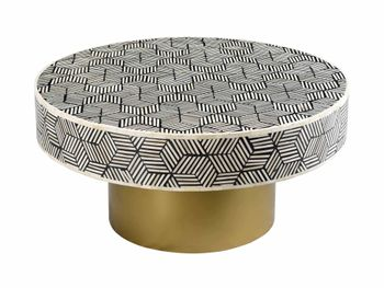 Bone Inlay Cocktail Table