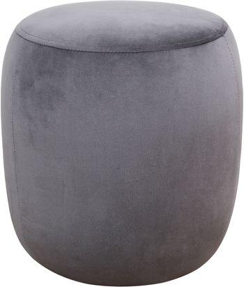 Willow Grey Velvet Ottoman
