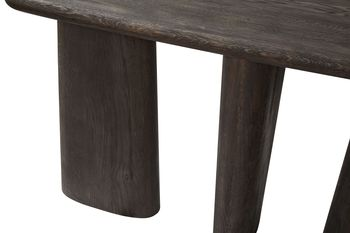 Rounded Console Table-Charcoal