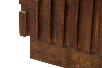 """Tall Chest 44""""H x 34""""W, Solid Hardwood, geometric patterning on front"""