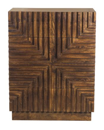 Maze Wood Tall Chest