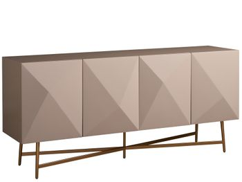 Taupe Lacquer Finish Console