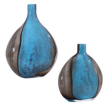Adrie Art Glass Vases, S/2