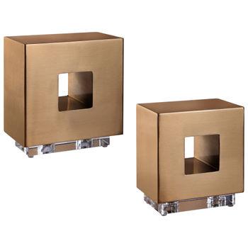 Rooney Brass Cubes, S/2