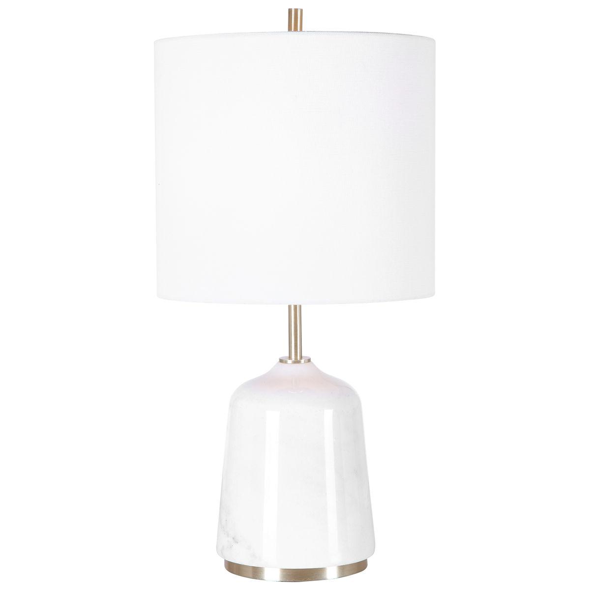 Uttermost Eloise White Marble Table Lamp
