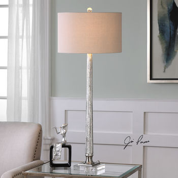 Uttermost Fiona Ribbed Mercury Glass Lamp