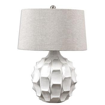 Uttermost Guerina Scalloped White Lamp
