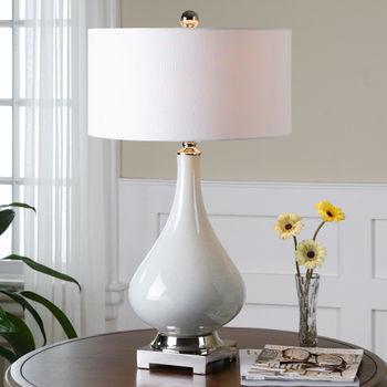 Uttermost Helton White Table Lamp