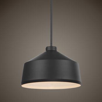 Uttermost Holgate 1 Light Black Pendant