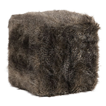 Uttermost Jayna Fur Ottoman