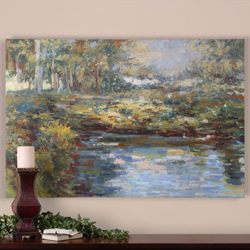 Art, Impressionist-Style, Hand Painted Oil On Canvas, 40H x 60W, Timeless, Landscape Design,