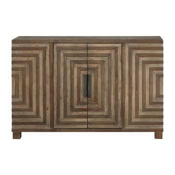 Uttermost Layton Geometric Console Cabinet