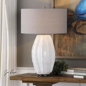 Uttermost Marazion Gloss White Lamp