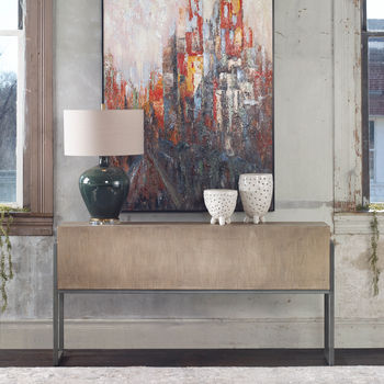 Uttermost Nevis Contemporary Console Table