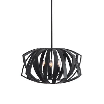 Uttermost Thales Black Geometric 3 Light Pendant