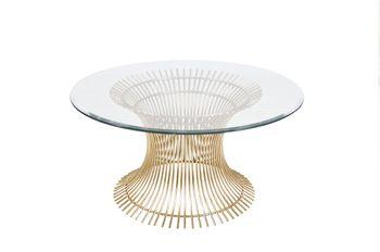 Powell Cf, Gold Lf Iron Coffee Table