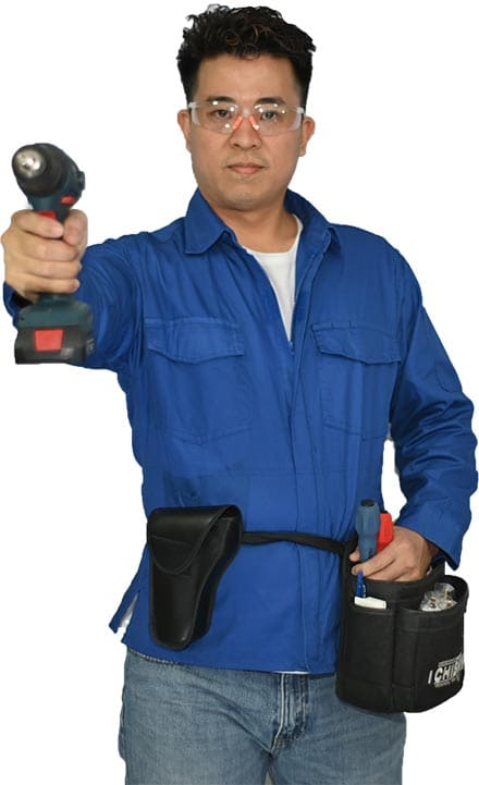 Electrician Holding a Battery Drill