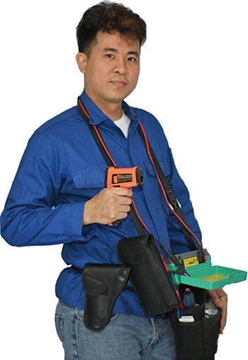 Electrician carrying tools