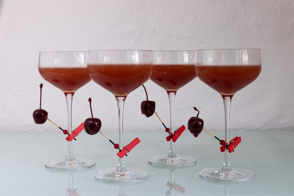 cherry heering, scotch, sweet vermouth