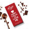 Rage Keep Calm and Love Me Signature Chocolate - 90 Grams(#1022)-thumb-0
