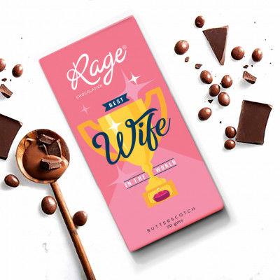 Rage Worlds Best Wife Dark Chocolate 90 grams(#1032)-gallery-0