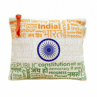 Pouch Canvas pouch for women Eco Friendly Tricolor Canvas Pouch(#1072)-gallery-0
