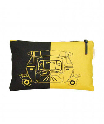 PouchWomens Pouch (Black and Yellow)(#1075)-gallery-0