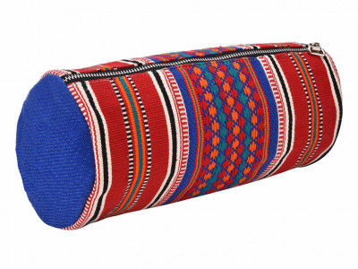 Handcrafted Multipurpose Travel Pouch - RedBlue(#1076)-gallery-0