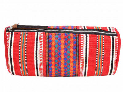 Handcrafted Multipurpose Travel Pouch - Vibrant Red(#1077)-gallery-0