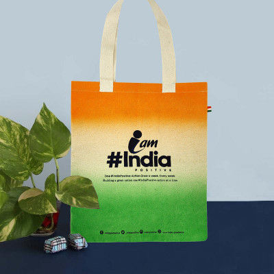 Tote Bag Womens Tote Bag IndiaPositive Challenge Tote ( Tricolor variant )(#1086)-gallery-0