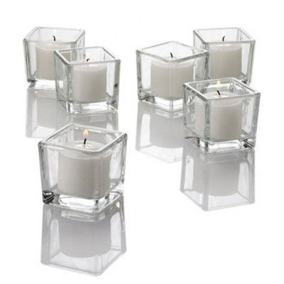 Twinkly Square Votive Aroma Candle Set of 4(#1092)-gallery-0